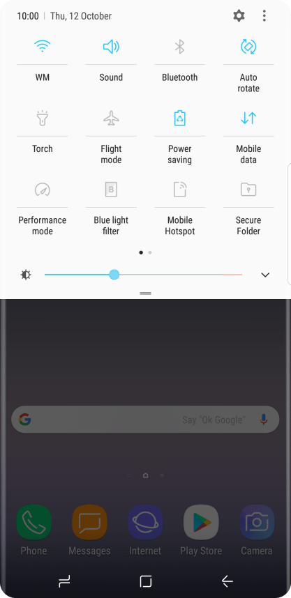 Samsung Galaxy Note8 - Turn mobile data on or off   Vodafone