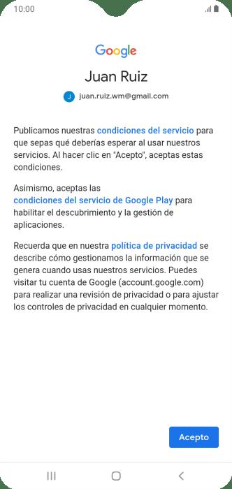 Samsung Galaxy A10 Activa Una Cuenta De Google En El