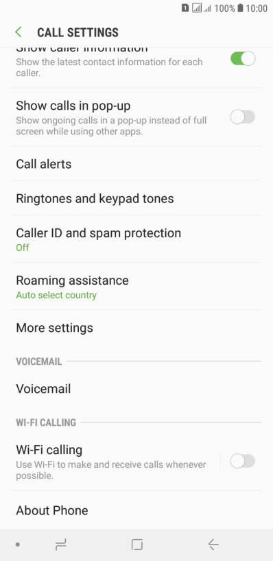 Samsung Galaxy J4+ - Divert calls to voicemail | Vodafone Ireland