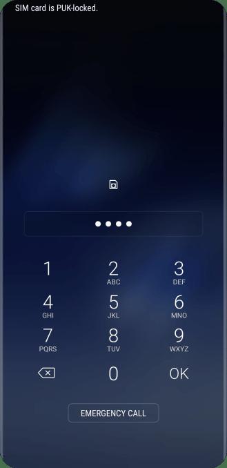 Samsung Galaxy S8 - Unblock PIN | Vodafone UK