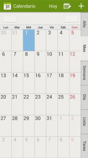 Calendario Samsung.Samsung N9005 Galaxy Note Iii Lte Uso Del Calendario Orange
